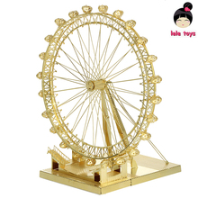 Pandamodel@British architecture London Eye golden  jigsaw 3D Metal model Etching puzzle brass like PIECECOOL NEW