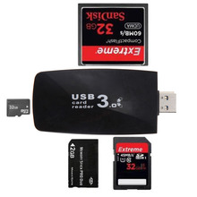 5Gbps Super Speed All in1 USB 3.0 Flash Memory Card Reader Portable Smart TF CF XD M2 MS SD Card Reader Adapter for PC Laptop