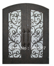 Shanghai Henchuang custom design wrought iron door wrought iron entry doors  id20