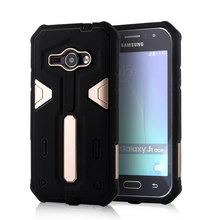 For Samsung Galaxy J1 Ace [Cool Robot] PC + TPU Hybrid Cell Phone Back Case Armor Cover Dust Plug Drop Protection Fashion