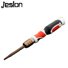 Jeslon 2 in 1 Combination Extension Type Screwdriver 4mm Household Screwdriver Slotted Philips Magnetic Screw for Home Work Use(China)