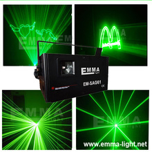 Fast shipping 1w laser green color Animation Laser Show DJ Light DMX / ILDA signal(China)