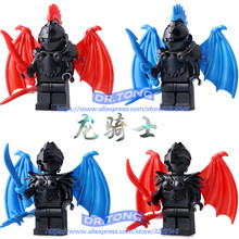 Single Sale Medieval Castle Knights Dragon Knights The Hobbits Lord of the Rings Figures with Armor Building Blocks Brick Toys(China)