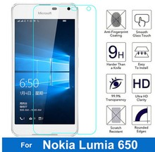 Bainov Tempered Glass For Nokia Microsoft Lumia 650 Screen Protector 9H 0.26MM 2.5D Safety Protective Film On Lumia650 Dual Sim