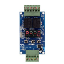 12V Dual Programmable Time Relay Module Relay PLC Board Cycle Delay Timer Module 2 Voltage Detection Control(China)