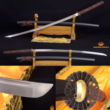 Japanese Samurai Full Tang Sword Katana HAND FORGED DAMASCUS Steel Sharp Can Cut Bamboos Free Shipping