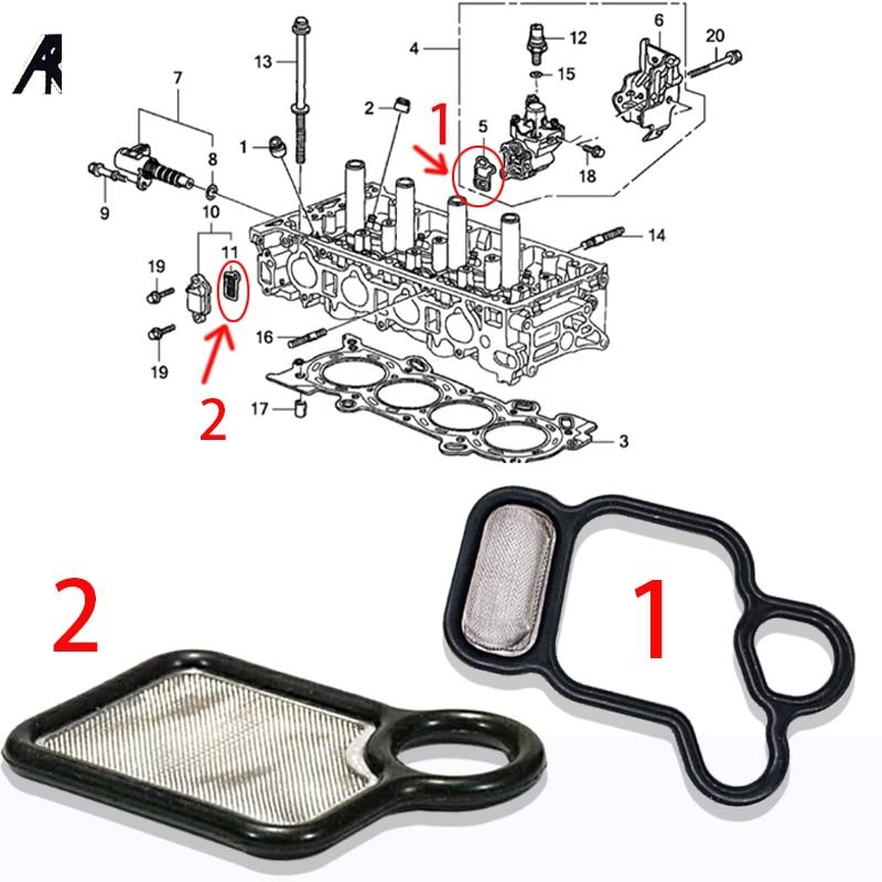 Solenoid Spool Valve VTC Screen Gasket O-ring Kit for VTEC K-series Honda Acura