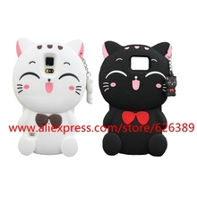 Cute !! Cartoon Cat 3D Silicone Phone Case Cover For Samsung Galaxy S3 S4 S5 S6 S7 Edge Note 3 4 5 J3 J5 J7 A5 A7 2016 2017 2015