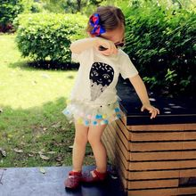 2017 New Direct Selling Fashion O-neck Cotton 2pcs Toddler Kids Baby Girls Clothes T-shirt Tops+diaper Pants Dress Outfits Set