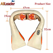 Pain Relief Electric Massage Pillow Neck Shoulder Back Massage Devices Infrared Heating Physiotherapy Shiatsu Kneading Massage
