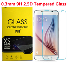 Top Quality 0.3mm Premium Tempered Glass For Samsung Galaxy S2 S3 S4 S5 S6 A3 A5 G360 G530 i9082 S7562 Win Screen Protector(China)