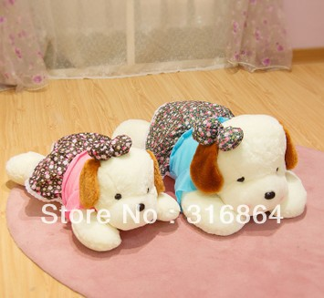 free shipping dog plaush toy come with colorful skirt soft stuffed toy <br><br>Aliexpress