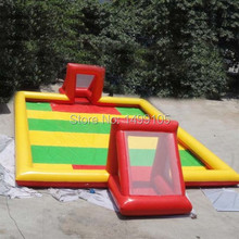 free shipping big size 10x6m inflatable football filed accept customized(China)