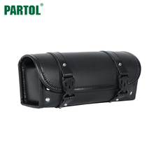 Partol Motorcycle Saddlebag Side Bag PU Leather Tool Bag Black Motorbike Saddle Bag for Harley Davidson Pannier side saddle bag(China)