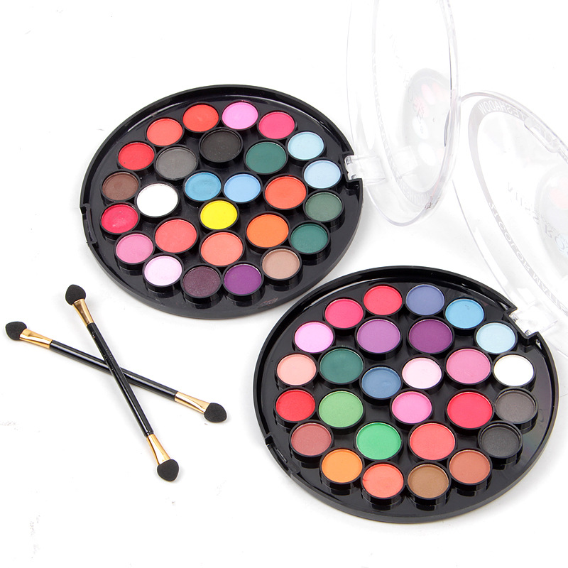 Popfeel Women 40 Colors Eyeshadow Matt Light Pearl Color Eyeshadow Eye Power Pastel Color Eyeshadow Eye Shadow Beauty Essentials