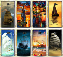 Newer Smooth Sailing Ship Phone Cases For Sony Xperia M2 S50h Dual D2302 D2305 D2303 D2306 Pirate Ship Phone Case Cover Shell
