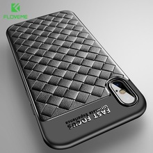 Buy FLOVEME Luxury Grid Case iPhone 6 6S iPhone 7 8 Plus Ultra Thin Silicon Capinhas iPhone X 6 6s Phone Cases Accessories for $2.69 in AliExpress store
