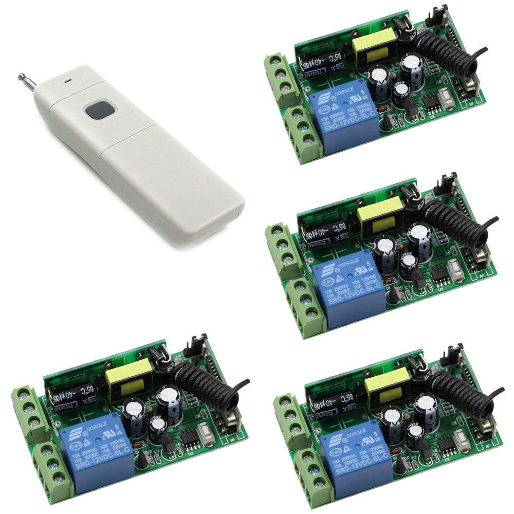 High Power 1000W Remote Control Button Transmitter ON OFF 1CH AC 85V-250V Wireless Remote 20-1000m Radio Remote Key 315/433mhz<br>
