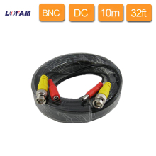 LOFAM 10m 32ft CCTV Camera Accessories BNC Video Power Coaxial plug and play Cable for Surveillance DVR Kit Length 32 feet