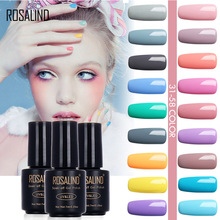 ROSALIND 7ML New 1pcs 58 Macaron Colors 31-58 Gel Nail Polish Nail Art Nail Gel Polish UV Gel Colorful Gel Varnish