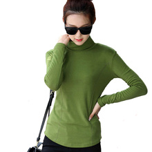 Buy Plus Size M-4XL Fashion Spring & Autumn Blusa Women Turtleneck Winter Tops Slim Casual Long Sleeve T Shirt Women 2017 A795 for $10.82 in AliExpress store