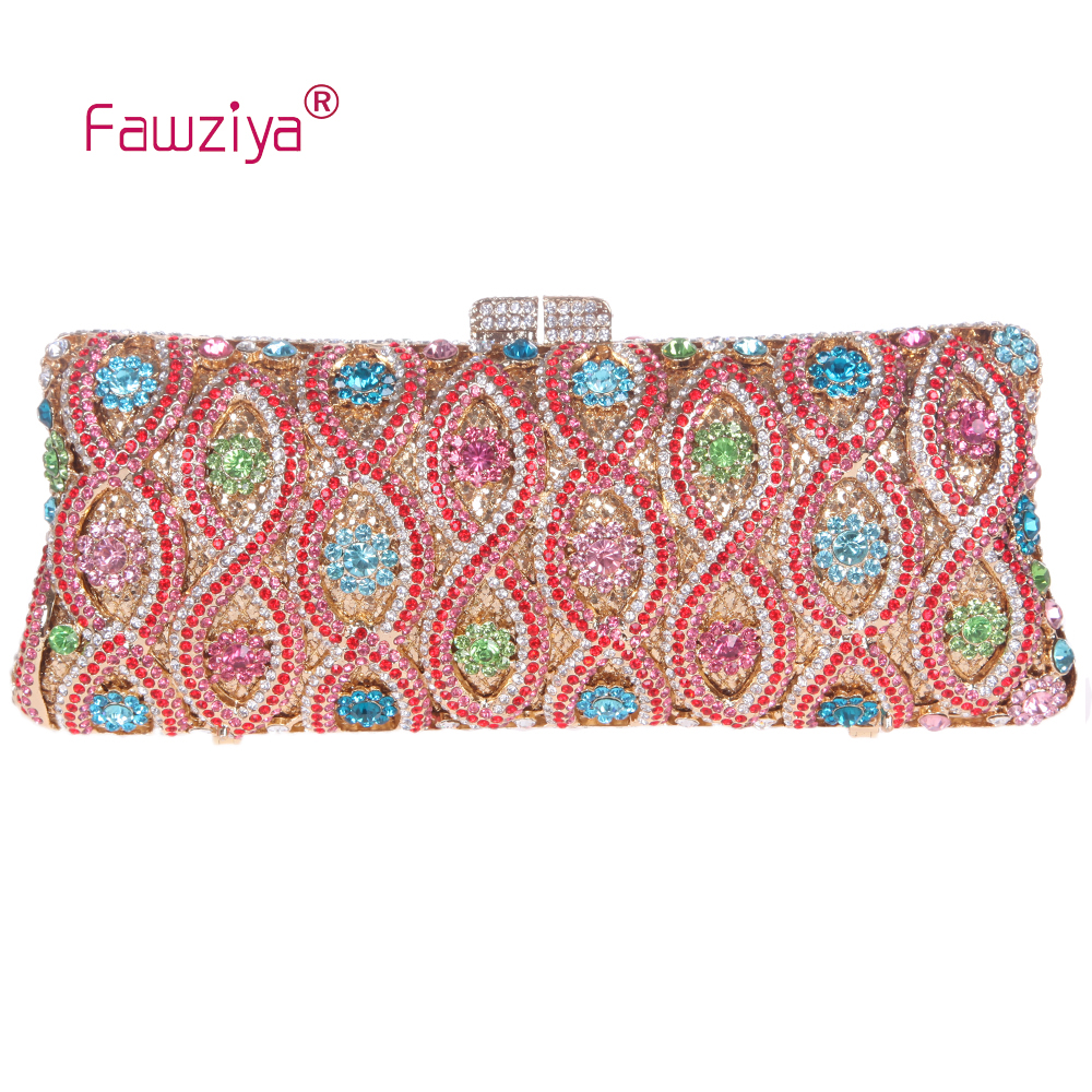 Fawziya Diamond Purse Lucky Number 8 Pattern Wedding Party Baguette Clutch Bag Prom Party Handbag <br><br>Aliexpress