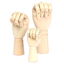 "Wooden Artist Articulated Modle Right Hand Art Model SKETCH Figure Joint Flexible Mannequin Decoration Wood Toys 7 ""-12 "" 30CM"