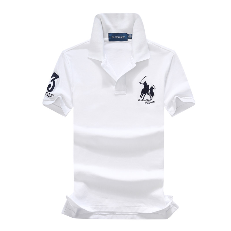 On sale 16 Colors 2019 summer 100% mesh cotton Big horse mens short sleeve polos mens shirts tops No.3 embroidery logo 7