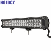HoldCY Car Off Road LED Work Light Bar 4D 126W Combo Beam For Jeep Car Truck 4x4 ATV SUV LED Off Road Driving Work Light Bar