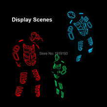 2017 New Brand Design Luminous EL wire Costumes Colorful Illuminate LED Strip Light-up Dance Clothes for Carnival, Cosplay Party(China)