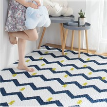Nordic style Geometric tatami mat 190*220cm ,quilted 100% cotton ground mat for living room , yoga mat,baby crawls cushion(China)