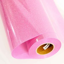 Heat Transfer Vinyl Press Film For Plotter T-shirts Glitter Holographic Iron-on 50cm5m(China)