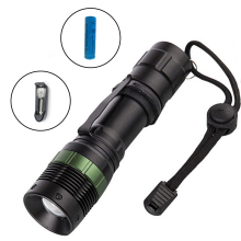 ZK40 3800 Lumen Zoom XM-L Q5 LED Flashlight Torch Waterproof Lamp Light Black Led Torch Llight With Battery And Battery Charger(China)