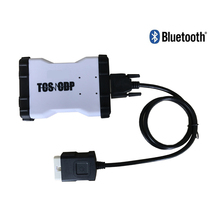 Hot sale WHITE WOW VD TCS CDP Pro Plus car-detector With LED obd obd 2 obd2 bluetooth adapter with keygen Free ship(China)