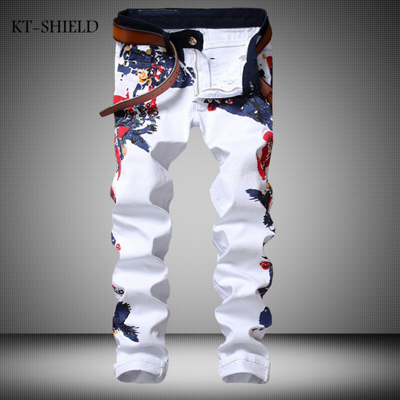 High Quality Patchowrk Jeans Men New Designer Skinny White Pants Elastic Denim Overall Slim Fit Casual Mens Clothing Plus SizeОдежда и ак�е��уары<br><br><br>Aliexpress