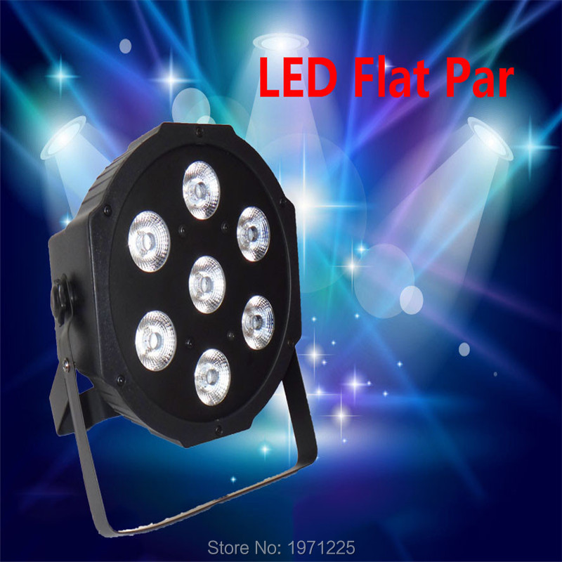 Fast Shipping LED Par Tri-7x9W RGB Flat Slimpar 3/7 channels LED Wash Light RGB Color Mixing 7x9W<br>