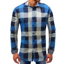 a1a49954b0 MUQGEW Red Black Plaid Shirt 2018 Summer Short Sleeve Shirt Men Lattice Denim  Long-Sleeve Beefy Button Basic Solid Blouse