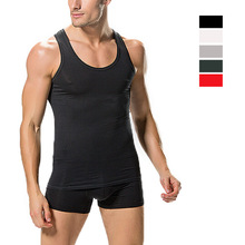 Free Shipping Men modal vest very gentle man bodybuilding tight vest #7170(China)