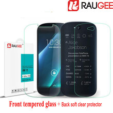 RAUGEE YOTA YotaPhone 2 YD206 5.0 inch Smart Phone Tempered Glass + Back e-ink e-paper Soft Screen Protector film Case Stock - Raugee Store store