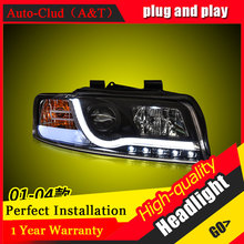 Auto Clud Car Styling For Audi A4 headlights 2001-2004 For A4 head lamp led DRL front Bi-Xenon Lens Double Beam HID KIT