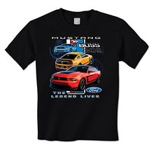 GILDAN man t shirt Ford Mustang Boss - The Legend Lives - American Muscle Car Mens T-Shirt