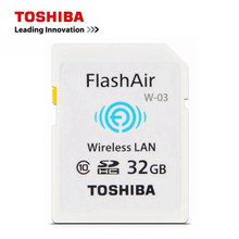 TOSHIBA WI-FI Memory Card 16G 32G W-03 WIFI SD Card FlashAir Class 10 SDHC Flash Camera Card WIFI download photo video to phone(China)
