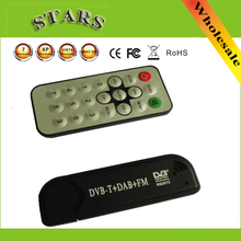 USB Smart TV Stick DVB-T & RTL-SDR Digital TV Receiver RTL2832U & R820T2 Tuner DVB-T+FM+DAB with Antenna for android PC(China)
