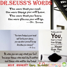 Inspirational Quote Wall Stickers English Lettering Words Room Decoration Vinyl Wall Decals Paper Craft Mural Art