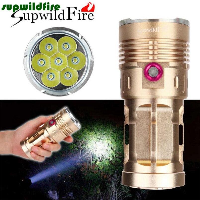 28000LM 7 x XM-L T6 LED Flashlight Torch 4 x 18650 Hunting Lamp#NO06<br>