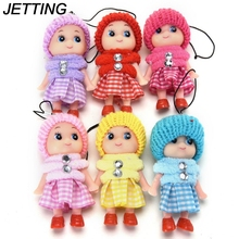 JETTING 1Pcs Kids Baby Cartoon Mobile Phone Straps Cute Mini Dolls Pendant Cell phone Charm(China)