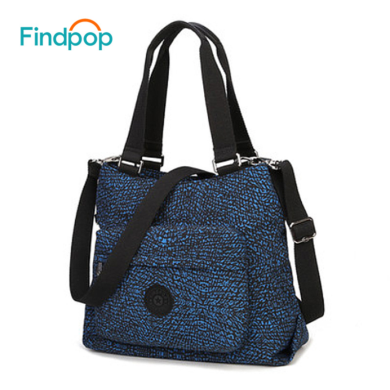 Findpop Vintage Women Crossbody Bag Large Capacity Casual Shoulder Bags For Women 2018 New Waterproof Canvas Plaid Crossbody Bag<br>