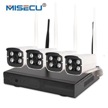 Misecu dễ dàng cài đặt plug & play 2.4 gam wifi kit 720 p 1080 p vga/hdmi 4ch nvr không dây p2p 720 p wifi ip camera không thấm nước cctv