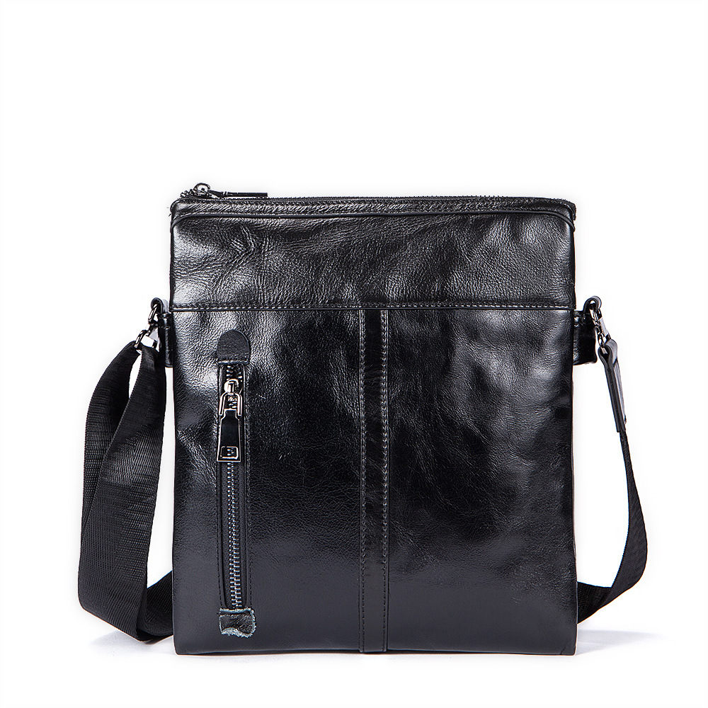 2018 Men Casual Zipper Vertical Handbags Top Genuine Leather Single Shoulder&amp;Crossbody Bag Item Organizer Messenger Bag Durable<br>