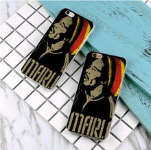 Bob Marley T Shirt design plastic case For Samsung Galaxy s3 s4 s5 s6 s7 edge phone cover for iphone 5s 5 5c SE 6 6s 7 plus 4 4s
